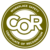 Workplace Safety. Certificate of Recognition